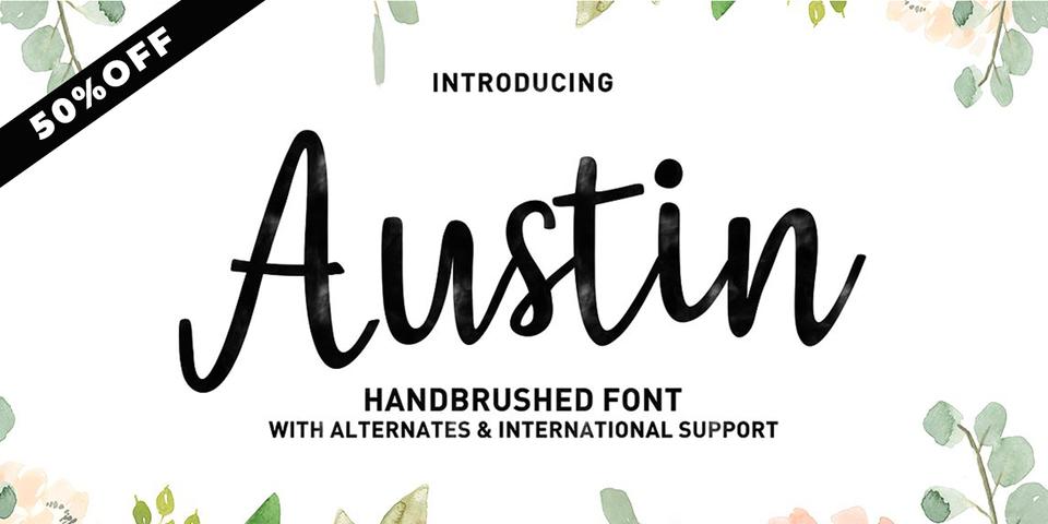Special offer on Austin Script