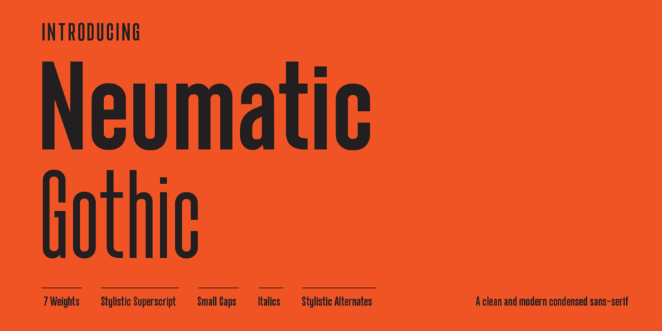 Neumatic Gothic font page