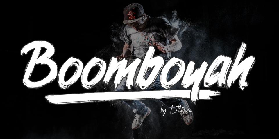 Boomboyah font page