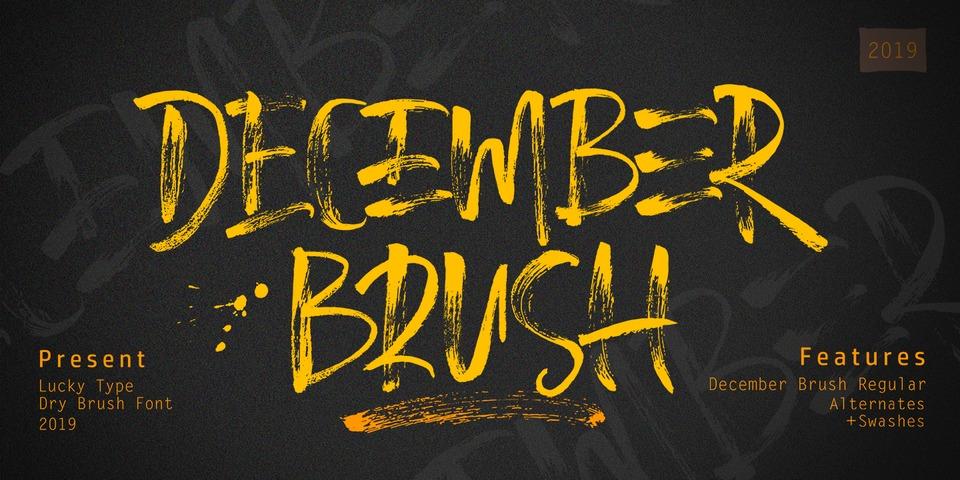 December Brush font page