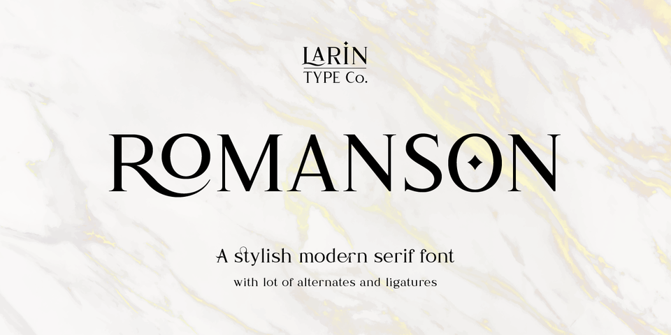 Romanson font page