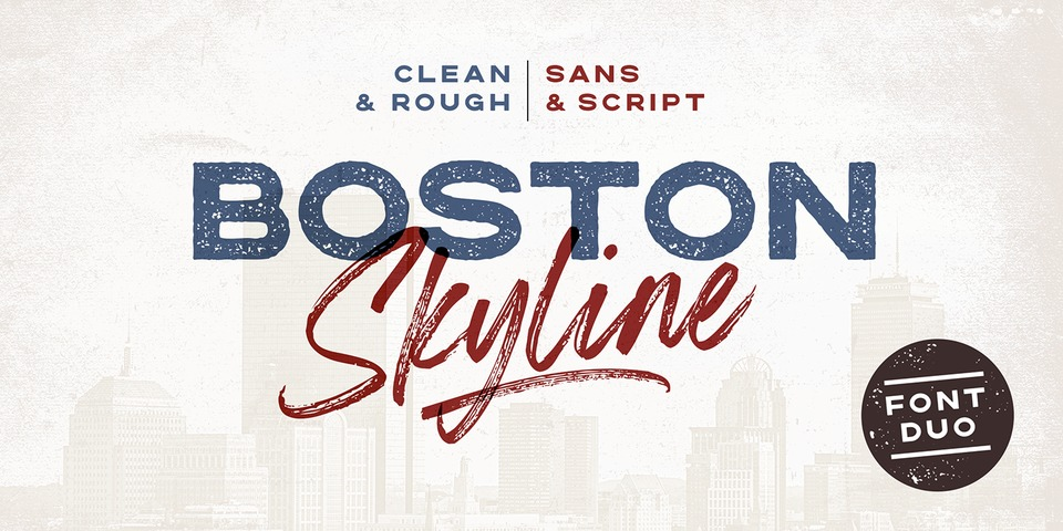 Boston Skyline font page