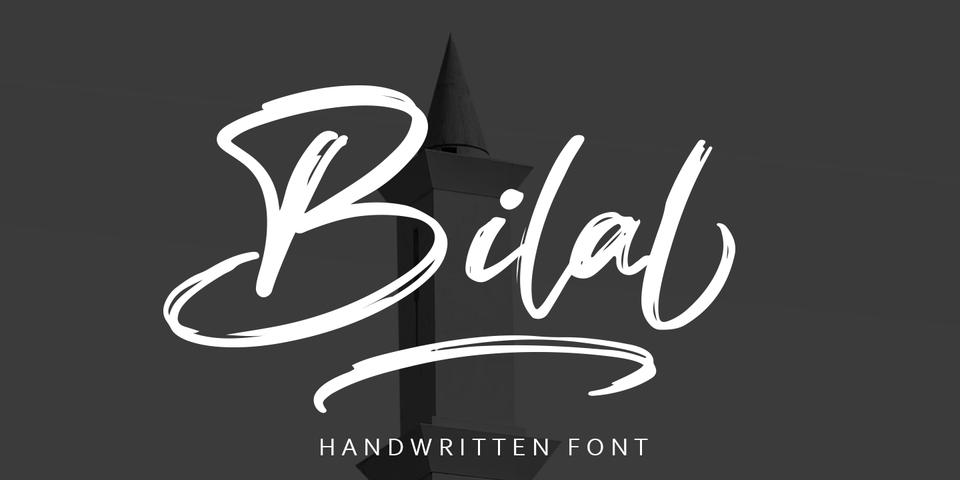 Bilal  font page