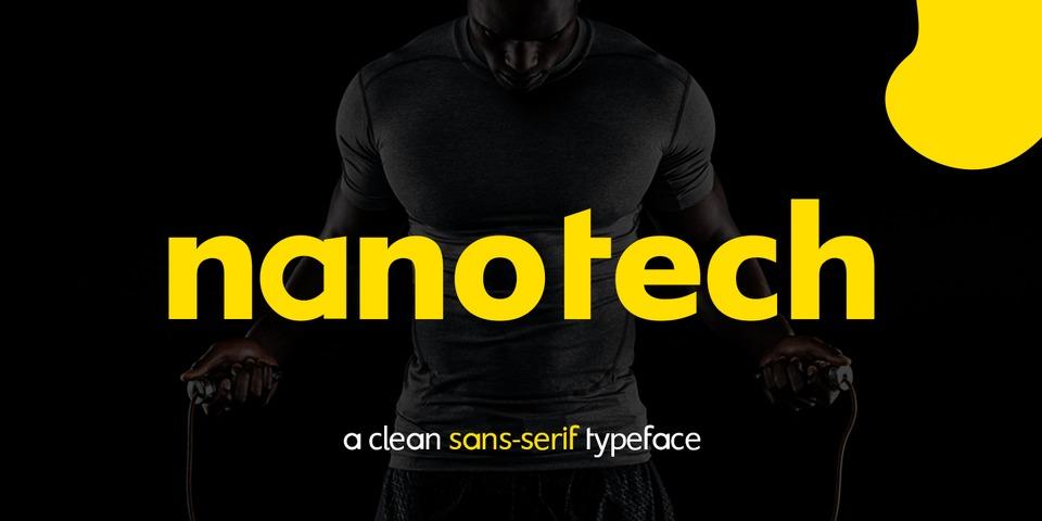 Nanotech font page