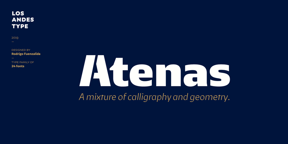 Atenas font page
