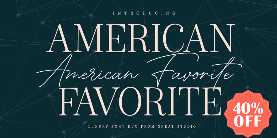 Special offer on American Favorite Script
