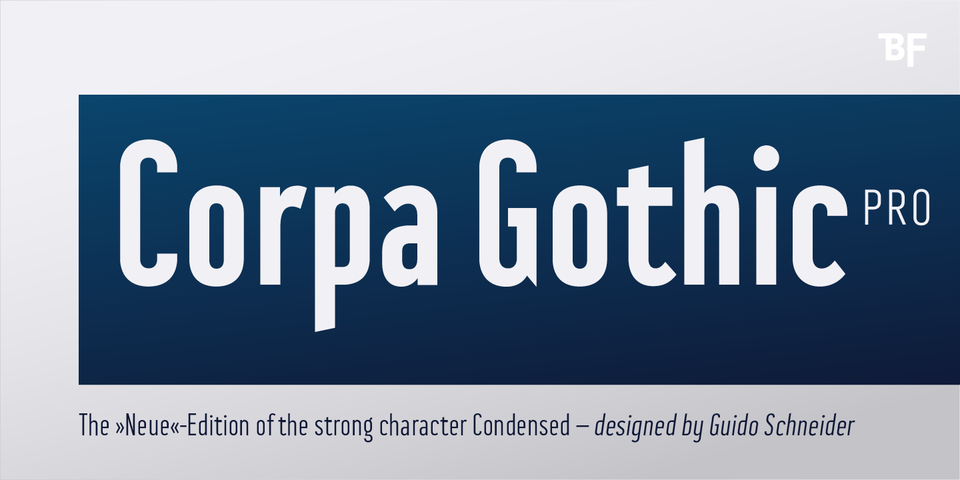 BF Corpa Gothic Pro font page