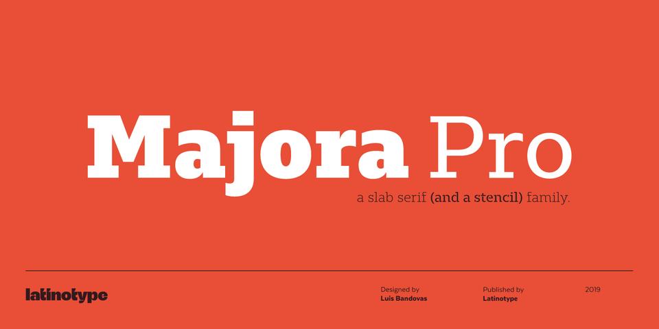 Majora Pro font page