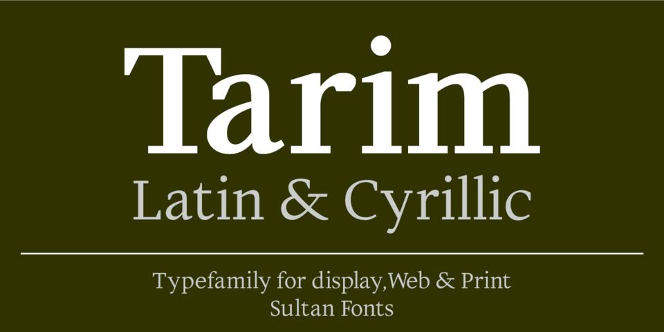Tarim font page