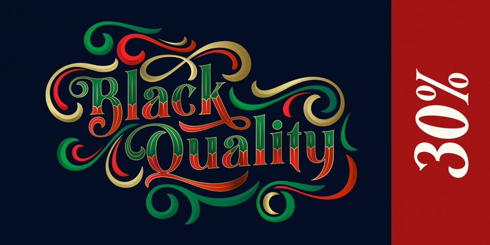 Special offer on Black Quality