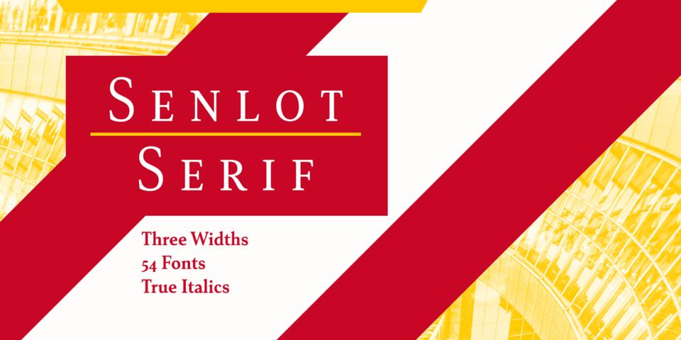 Senlot Serif font page