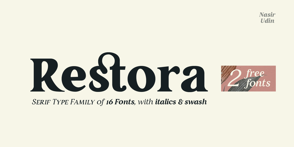 Restora font page
