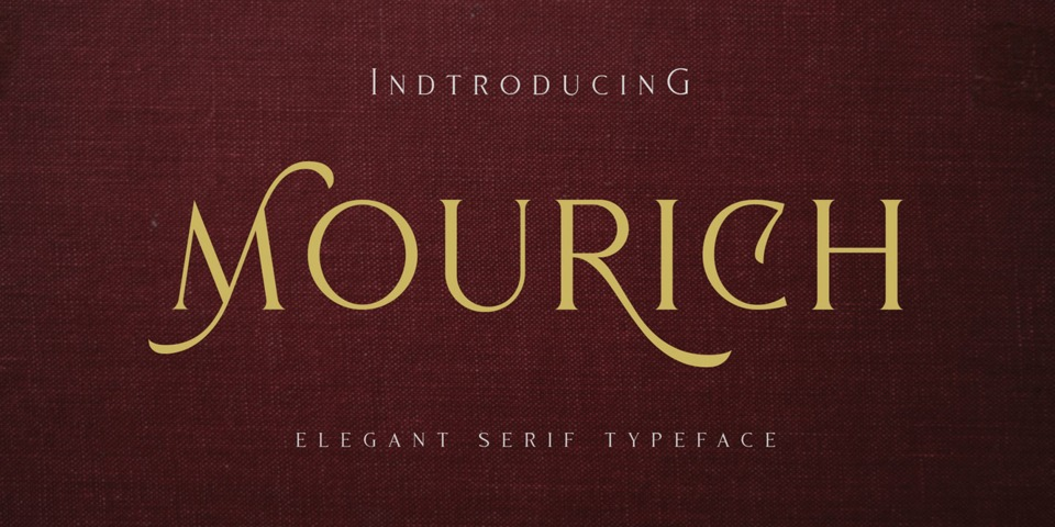 Mourich font page