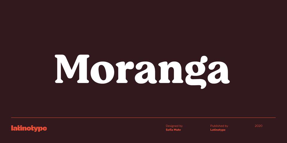 Moranga font page