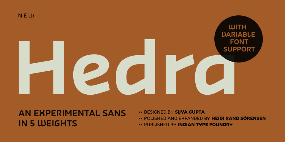 Hedra font page