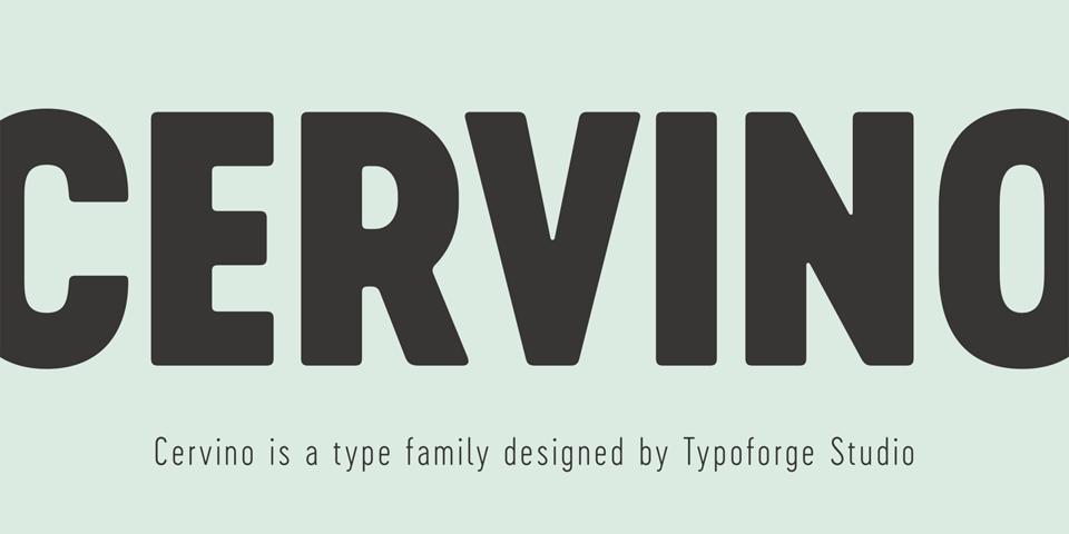 Cervino font page