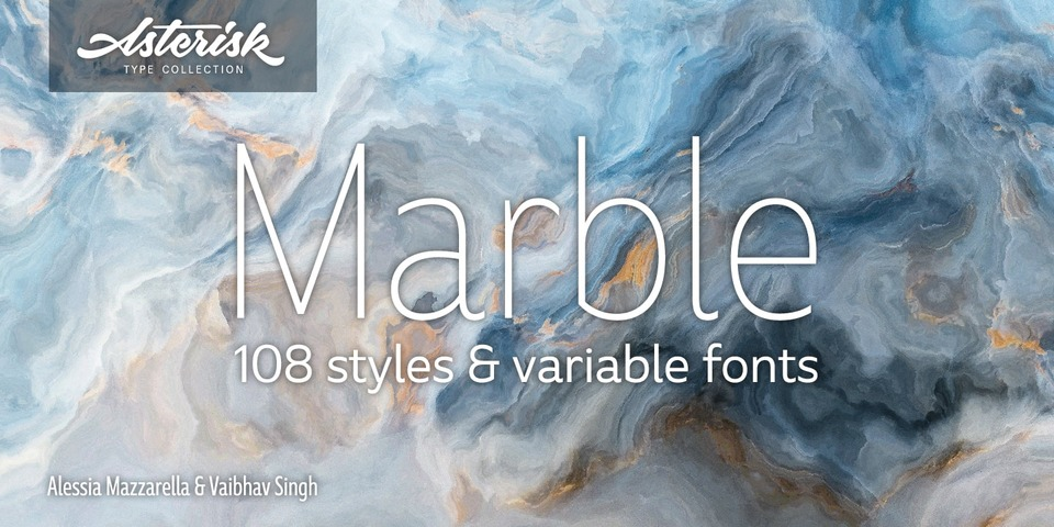 Marble font page