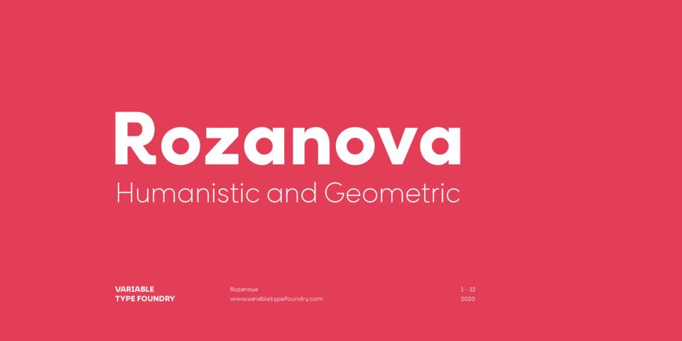 Rozanova font page