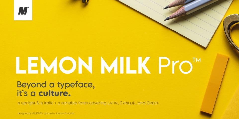 Lemon Milk Pro™ font page