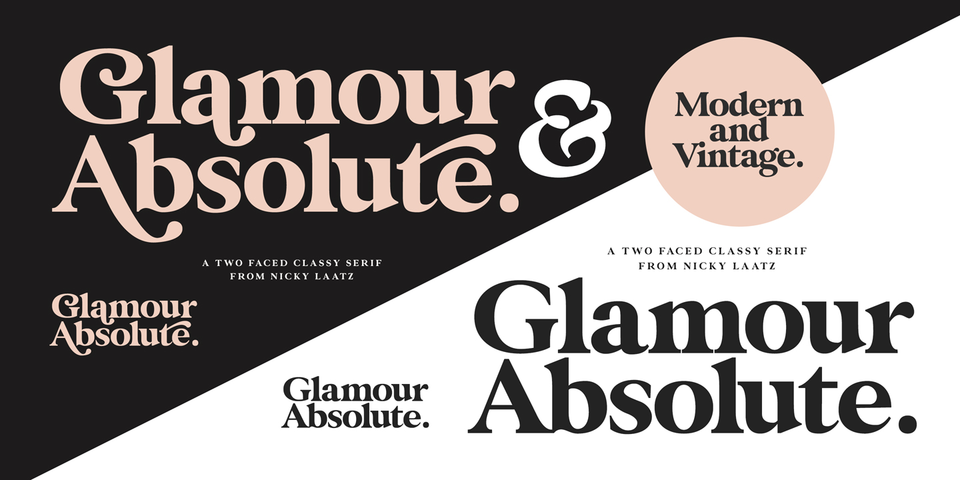 Glamour Absolute font page