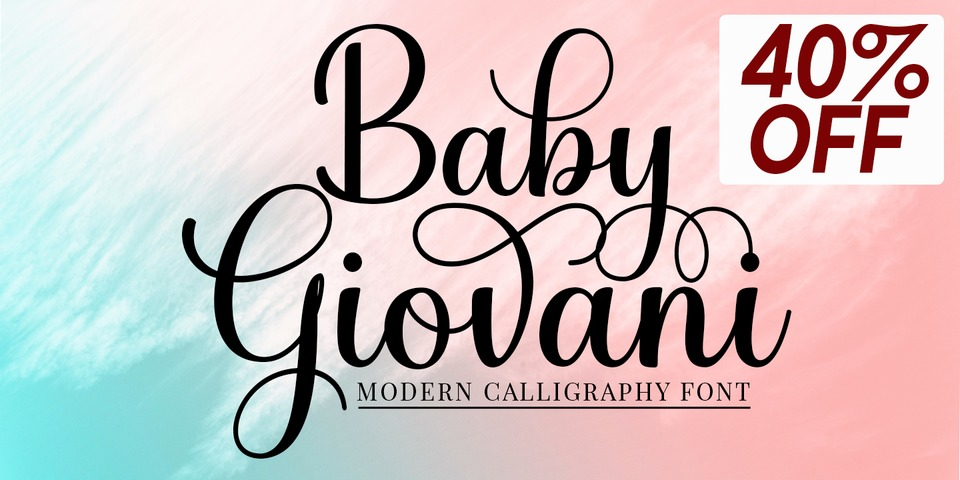 Special offer on Baby Giovani Script