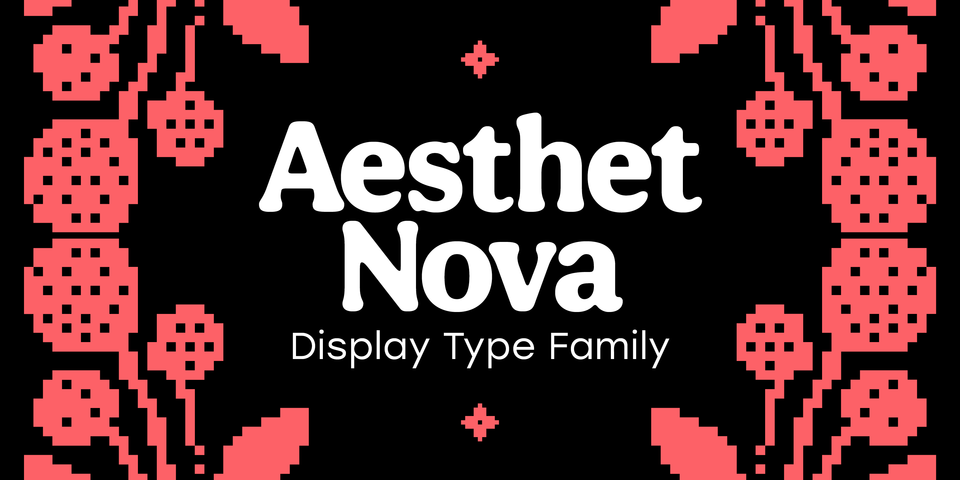 Aesthet Nova font page