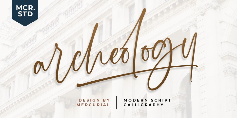 Archeology Script font page