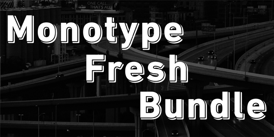 Monotype Fresh Bundle by Monotype