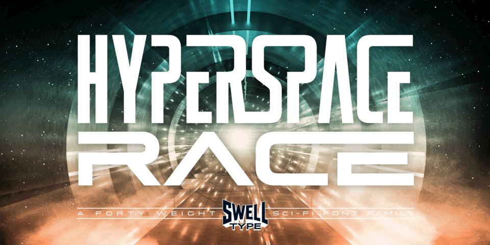 Hyperspace Race font page