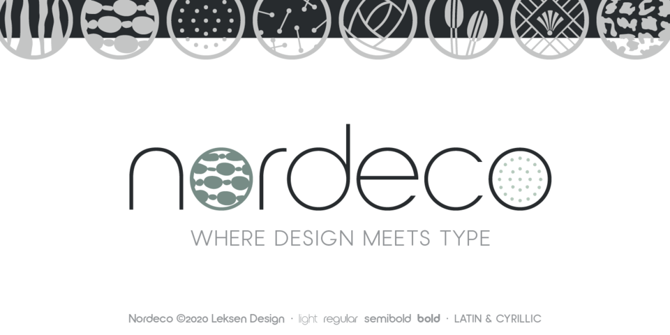 Nordeco font page