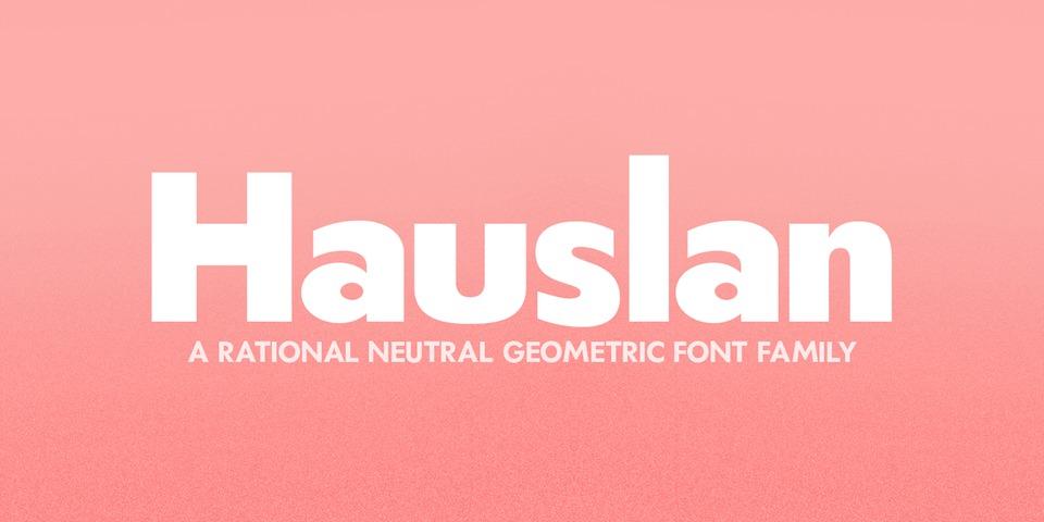 Hauslan font page