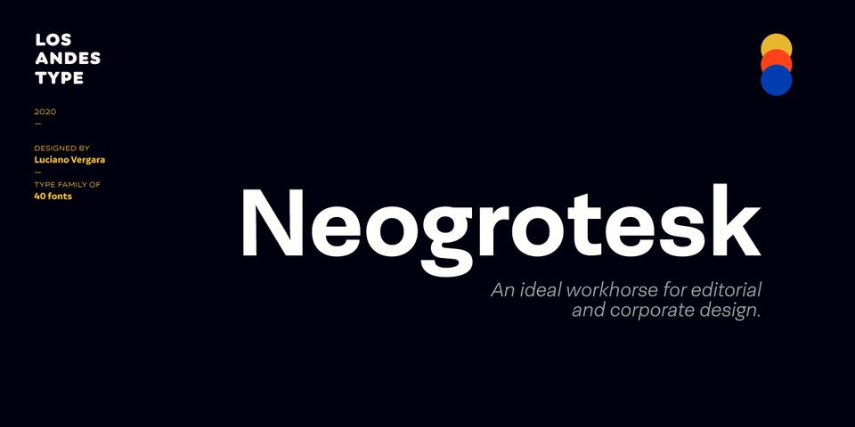 Neogrotesk font page