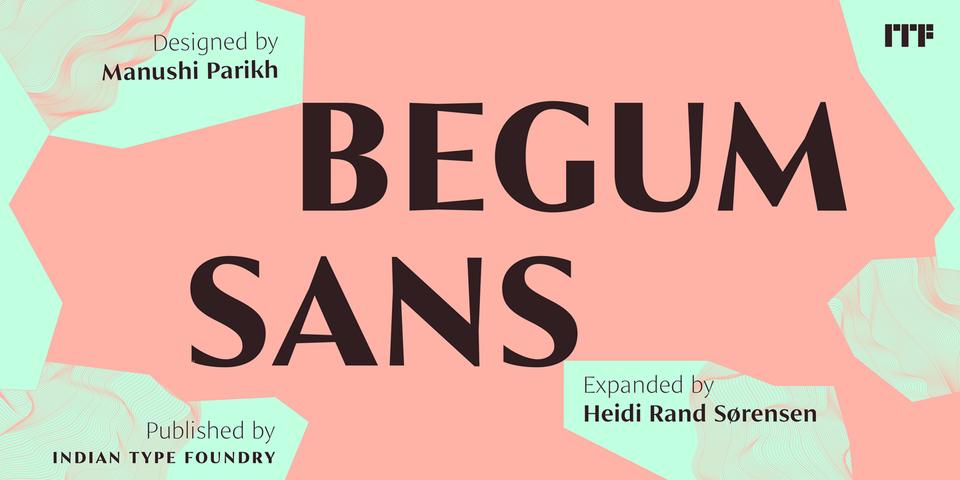 Begum Sans font page