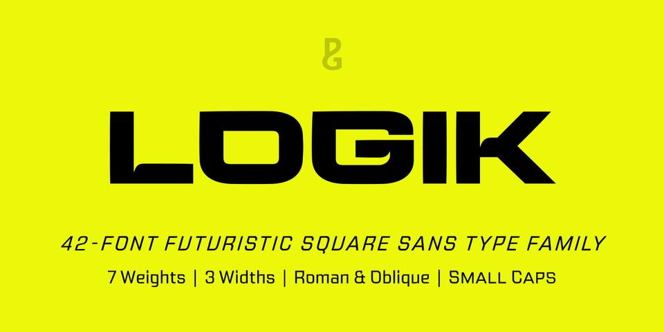 Logik font page