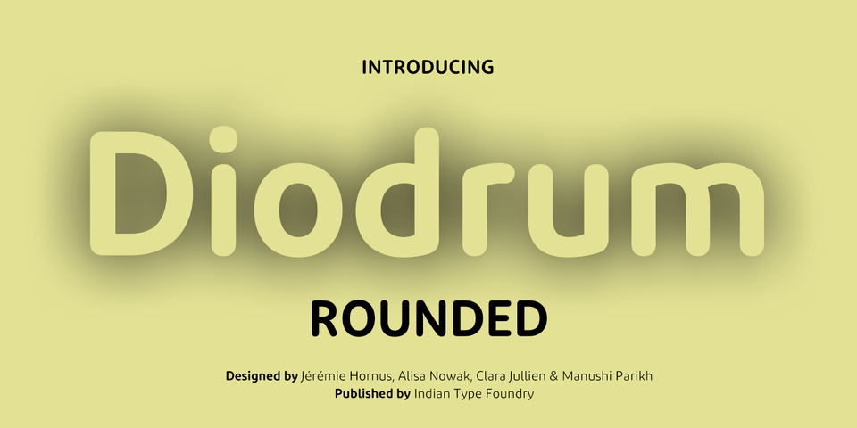 Diodrum Rounded font page