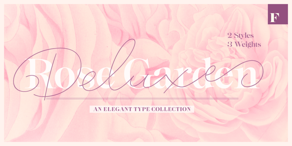 Rose Garden Deluxe font page