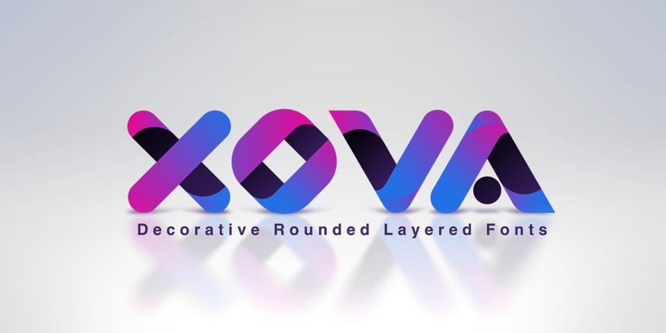 Xova Layered font page