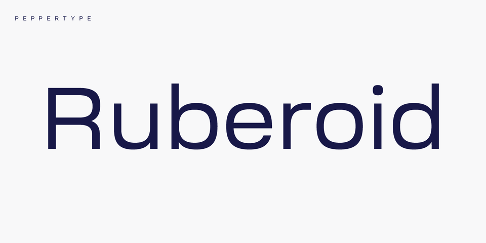 Ruberoid font page