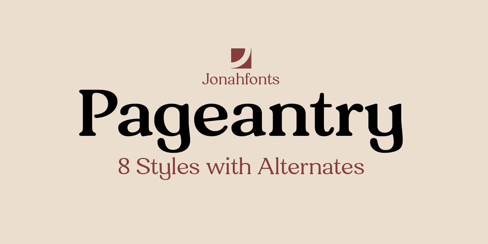 Pageantry font page