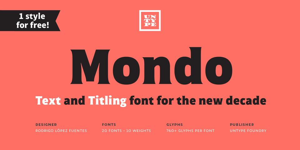 Mondo font page