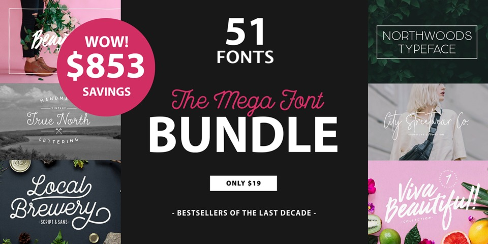 Mega Font Bundle by Cultivated Mind