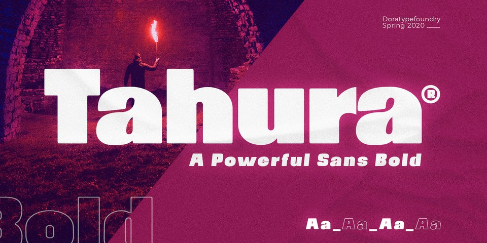 Tahura font page