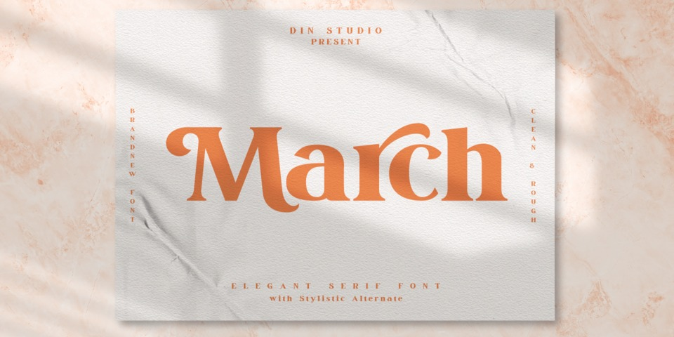 March font page