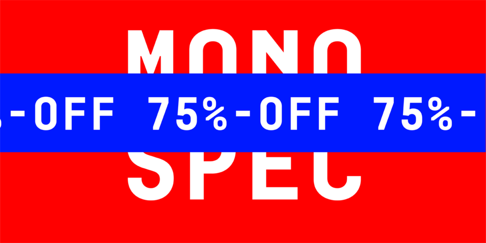 Special offer on Mono Spec