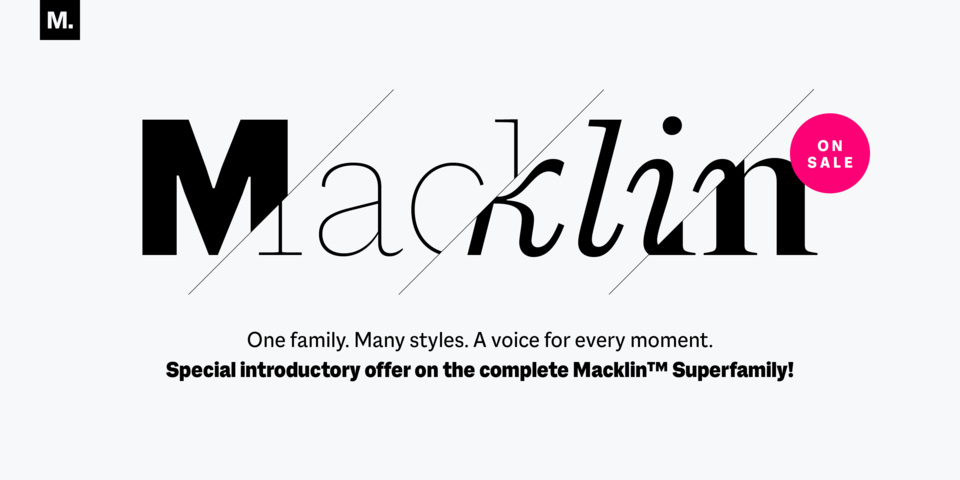 Special offer on Macklin