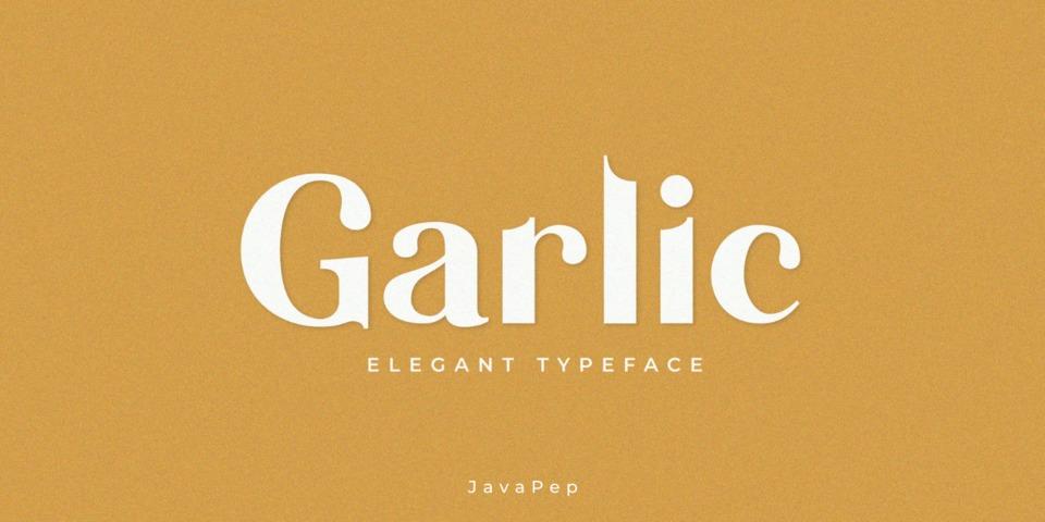Garlic font page
