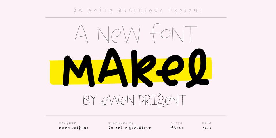 Makel font page
