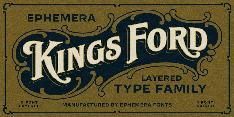 Ephemera Kingsford font page