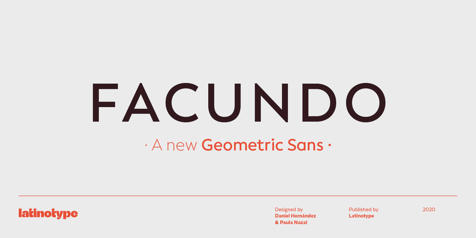 Facundo font page