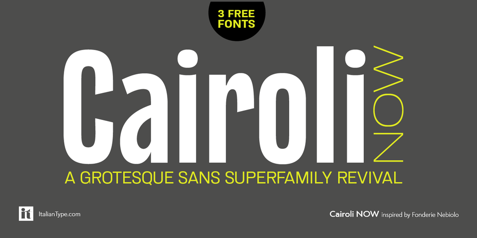 Cairoli Now  font page